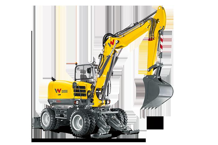 Wheeled Excavators Wacker Neuson Precise Operation Cautrac