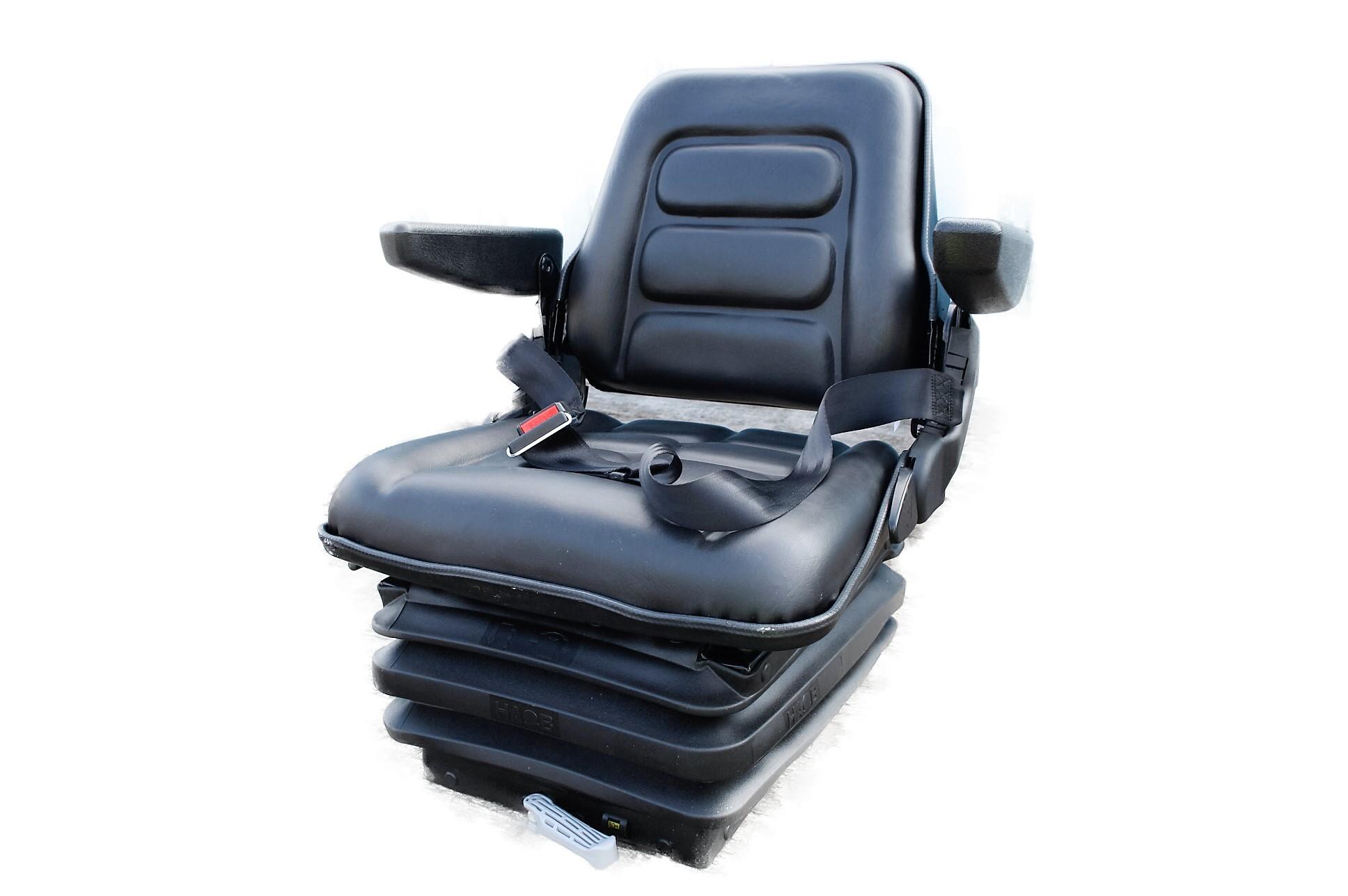 Sc2 Mini Excavator Seat Pvc Lap Belt Armrests Cautrac